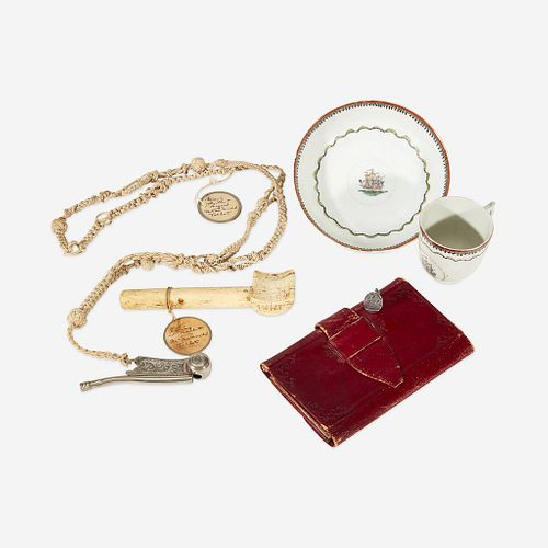 A group of Marine related items late 18th/19th century