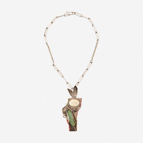 A Southwest sterling necklace Buddy Lee Mossman (1941-2018), Pojoaque, New Mexico