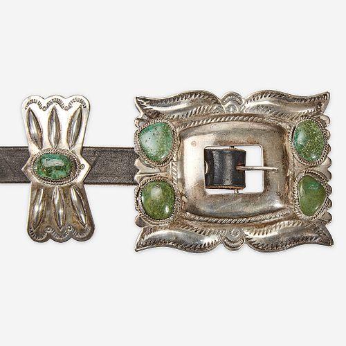 Three Southwest concho belts 20th century