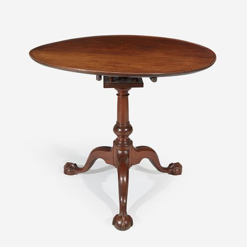 A Chippendale carved mahogany tilt-top tea table Philadelphia, PA, circa 1770