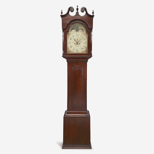 A Chippendale carved mahogany tall case clock Daniel Oyster (1766-1845), Reading, PA, early 19th century