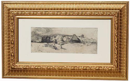 Rembrandt (1606 - 1669) Drypoint Etching