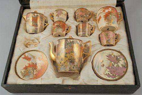 Beautiful Antique Satsuma Tea Set