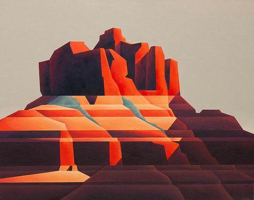 Ed Mell (American, b. 1942) Red Rock, 1980