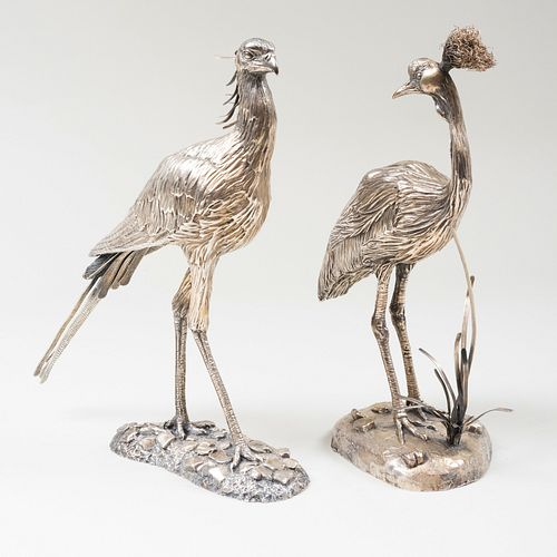 Two English Tim Nicklin Silver Birds