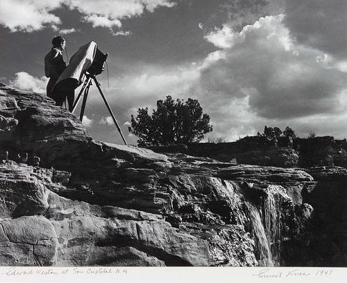 Ernest Knee (Canadian/American, 1907-1982) Edward Weston at San Cristobal, N.M., 1941