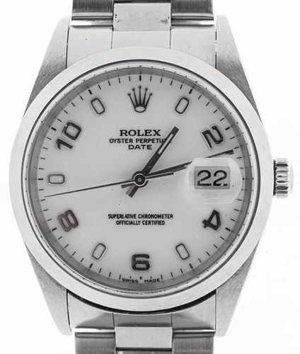 Vintage Rolex Date Mid-Size Stainless Steel Watch