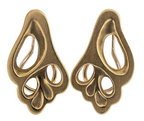 Angela Cummings Tiffany & Co 18K Conch Earrings