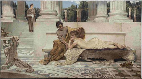 """Cesar Philipp """"Idle Moments"""" Oil on Canvas"""