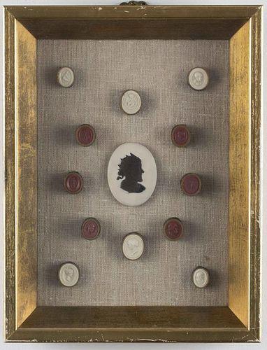 19th C. Grand Tour Plaster Intaglio Seals