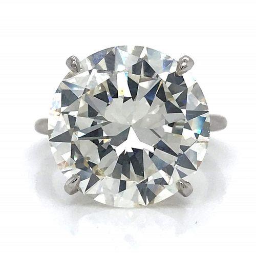 12.40 Ct Monture Cartier Certified Diamond Ring
