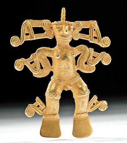 Pre-Columbian Panamanian Gold Shaman Pendant - 56.5 g