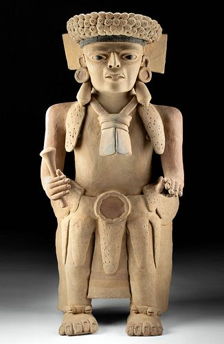 Huge Veracruz Terracotta Statue - Male Dignitary