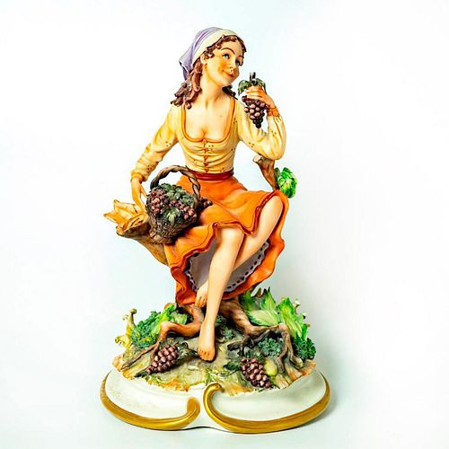 Capodimonte La Medea Figurine, Lady With Grapes