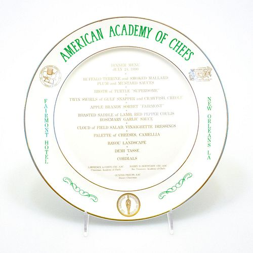 Royal Doulton American Academy of Chefs Dinner Plate