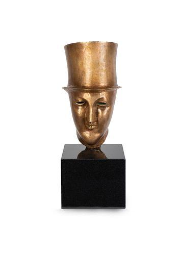 Elie Nadelman (American, 1882-1946) Head of a Man in a Top Hat