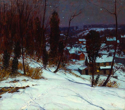 George William Sotter (American, 1879-1953) Winter Night, 1945