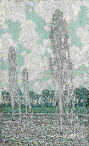 Henri Le Sidaner(French, 1862-1939) Jets d'eau sur le ciel, 1937