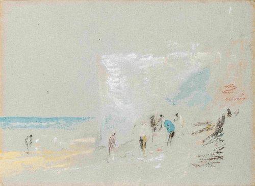 Joseph Mallord William Turner(British, 1775-1851)Figures on the Cliffs at Margate, c. 1840-45