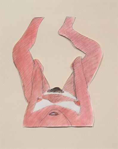 Tom Wesselmann (American, 1931-2004) Drawing for Great American Nude #88, 1967