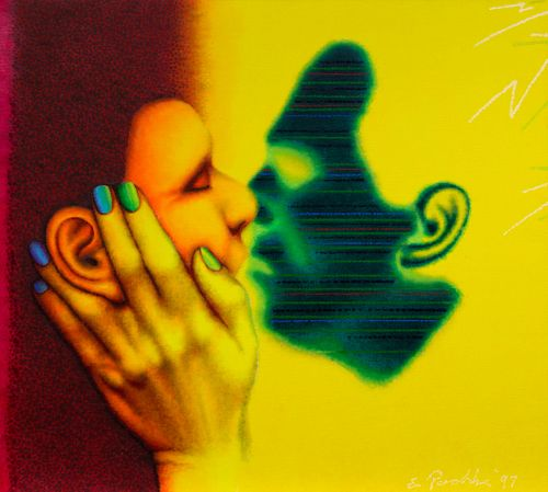 Ed Paschke (American, 1939-2004) Face to Face, 1997