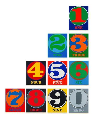 Robert Indiana(American, 1928-2018)Numbers (the complete portfolio), 1968