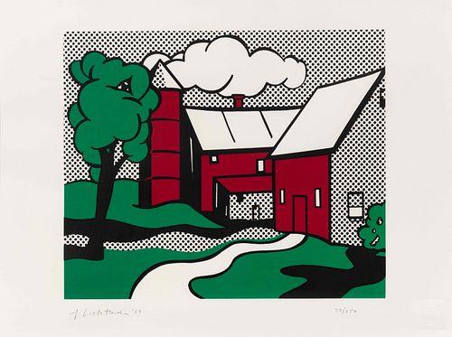 Roy Lichtenstein (American, 1923-1997) Red Barn, 1969