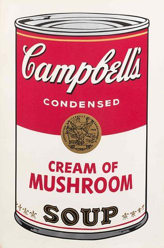 Andy Warhol (American, 1928-1987) Campbell's Soup I: Cream of Mushroom, 1968