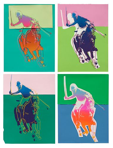 Andy Warhol (American, 1928-1987) Four Polo Players, 1985