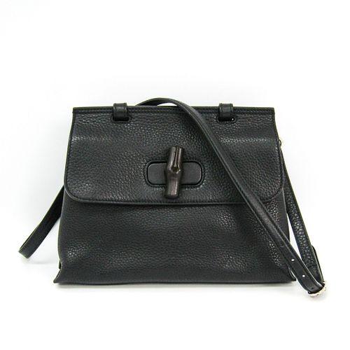 Gucci Daily 370831 Women's Leather Handbag Black BF333005