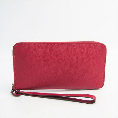 Hermes Azap Long Dragonne Women's  Epsom Leather Long Wallet (bi-fold) Rouge Grenat BF329782
