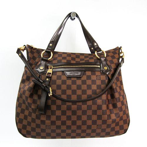 Louis Vuitton Damier Evora MM N41131 Women's Shoulder Bag Ebene BF338904