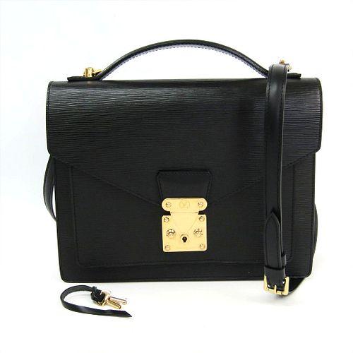 Louis Vuitton Epi Monceau M52122 Handbag Noir BF339058