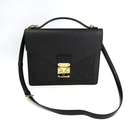 Louis Vuitton Epi Monceau M52122 Handbag Noir BF339057