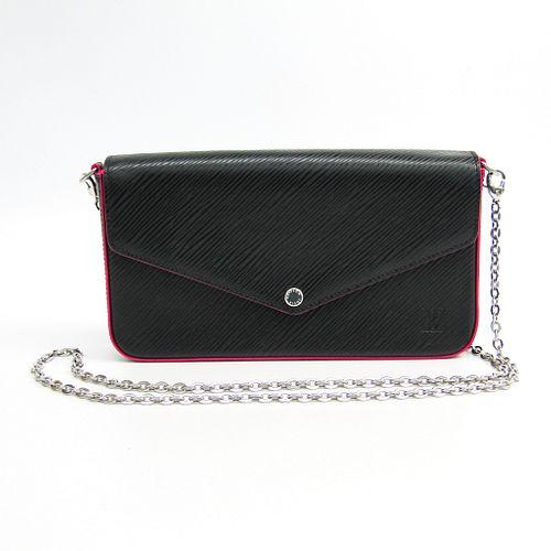 Louis Vuitton Epi Pochette Felice M64579 Women's Epi Leather Chain/Shoulder Wallet Hot Pink,Noir BF337333