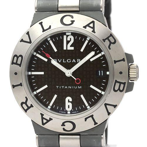 BVLGARI Diagono Carbon Dial Titanium Automatic Watch TI38TA BF526506
