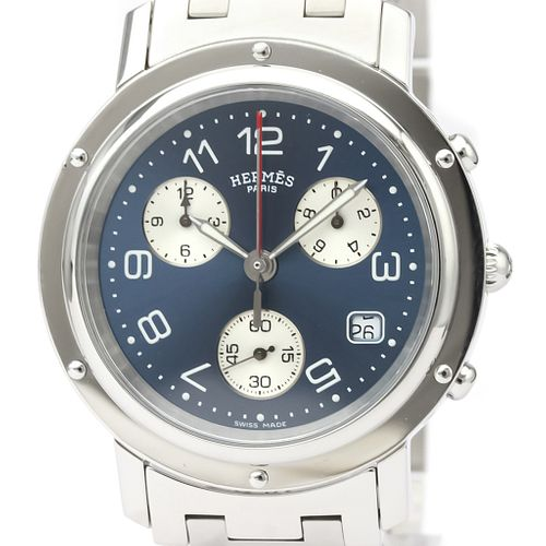 Hermes Clipper Quartz Stainless Steel Men's Sports Watch CL1.910 BF527397