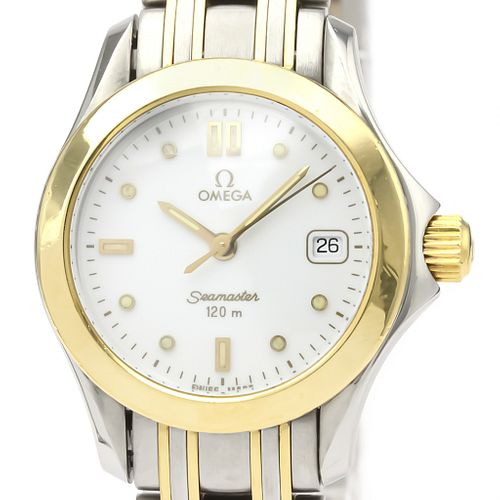 Omega Seamaster Quartz Stainless Steel,Yellow Gold (18K) Women's Sports Watch BF525015
