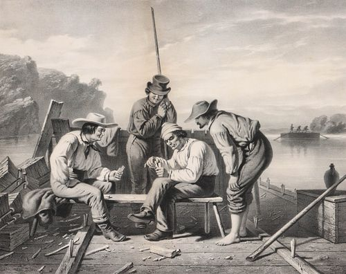 A RARE 1852 LITHOGRAPH AFTER GEORGE CALEB BINGHAM