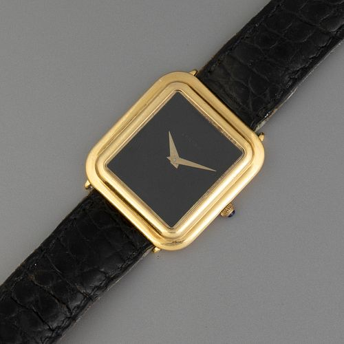 Cartier Gondole Gold Wristwatch with Onyx Dial
