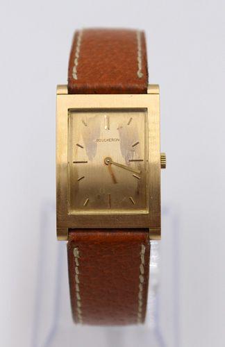 Vintage Bucheron 18K Gold Tank Mechanical Watch