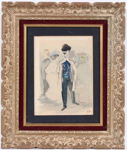 Kees Van Dongen, Watercolor, Group of Figures