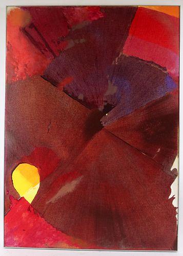 "Joseph Drapell, Acrylic on Canvas, ""Yellow Star"""