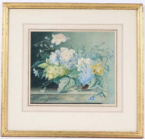 S.C. Van Beresteijn, Watercolor, Still Life