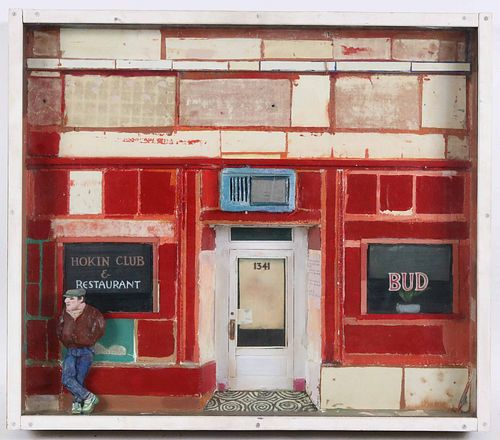 "Gustaf K. Miller, Diorama ""The Hokin Club"""