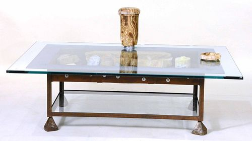 Stone, Glass, and Metal Table, Mark Mennin