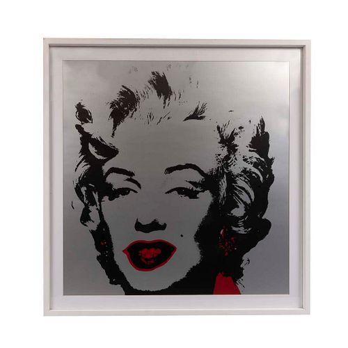 """ANDY WARHOL. II. 36 : Marilyn Monroe Con sello en la parte posterior """"Fill in your own signature"""" Serigrafía. Enmarcada. 91.4 x 91.4 cm"""