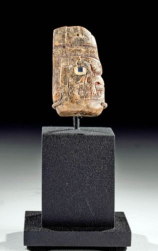 Chavin Bone Amulet - Jaguar God Head w/ Inlays