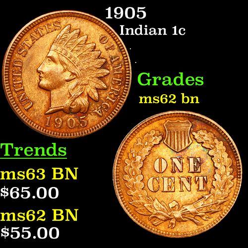 1905 Indian Cent 1c Grades Select Unc BN