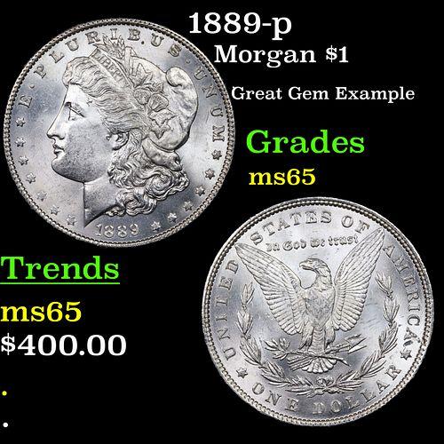 1889-p Morgan Dollar $1 Grades GEM Unc